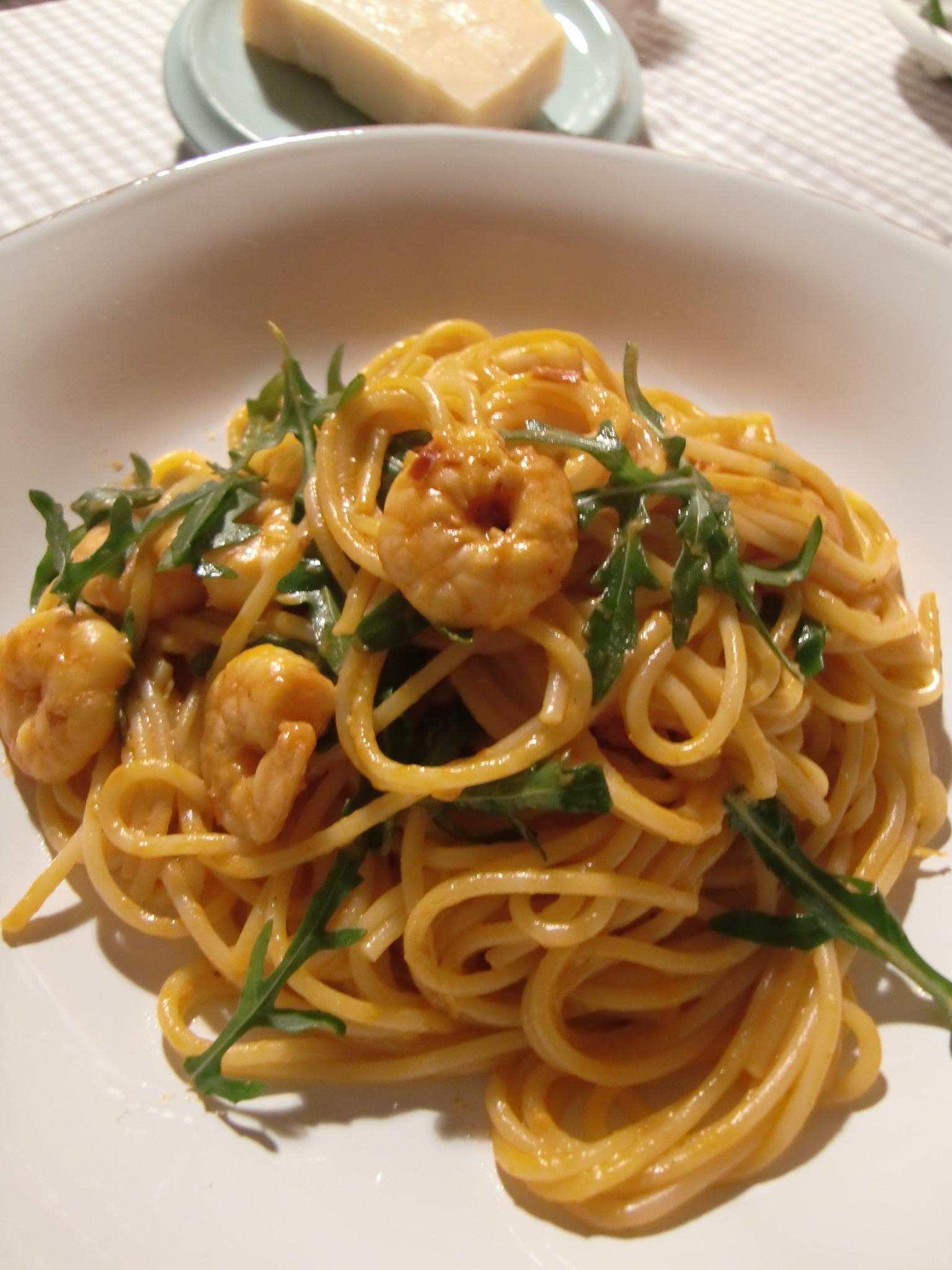 Kochen Für Gäste Ein Köstlicher Hauptgang Namens Spaghetti Con